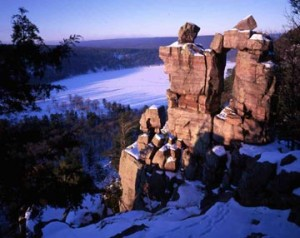 devils lake baraboo wi winter
